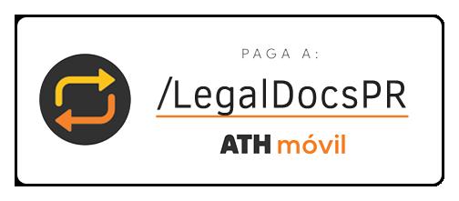 Envía tu pago por ATH Móvil al pATH: /LegalDocsPR