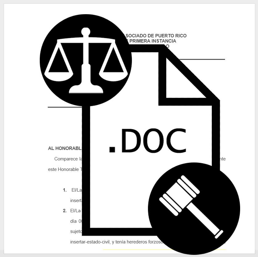 adveración de testamento ológrafo DESCARGAR MODELOS DE DOCUMENTOS Legales y Notariales