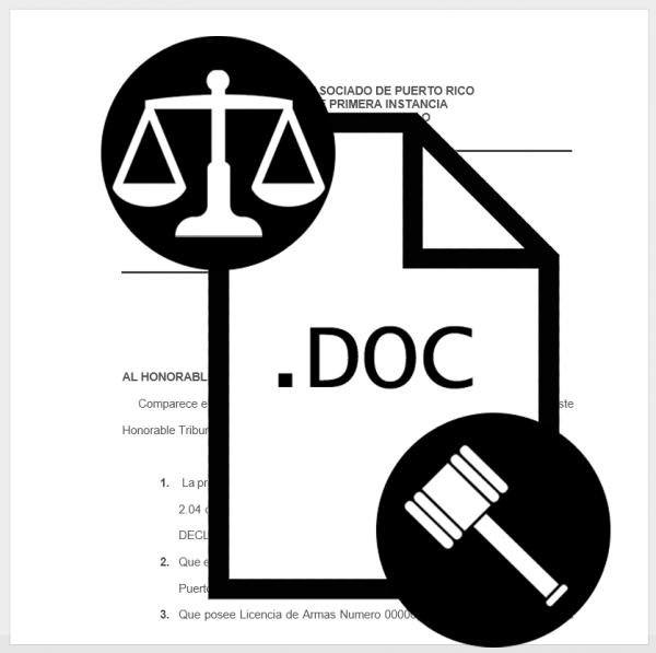 Solicitud de permiso para portar armas DESCARGAR MODELOS DE DOCUMENTOS Legales y Notariales